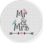 Mr And Mrs Cross Stitch Pattern - via @Craftsy