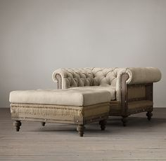 Deconstructed Chesterfield Upholstered Chair