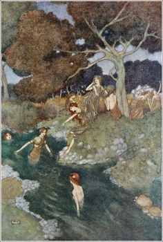 Edmund Dulac, Shakespeare's comedy of The tempest (France, England, 1915)