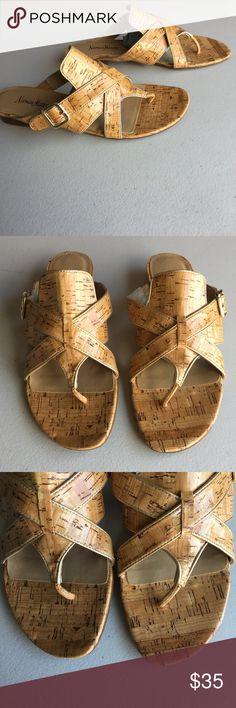 Neiman Marcus Slide Sandals, size 8.5 Beautiful sandals from Neiman Marcus size 8.5 color natural cork, brand new!! No box Neiman Marcus Shoes Sandals