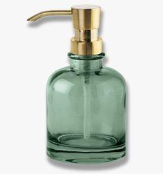 Dispenser per sapone Venezia Dark Forest by Mette Ditmer Green Soap, Pumps, Dark Forest, Soap Dispenser, Tumblers, Home Accessories, Brass, Cleaning, Design