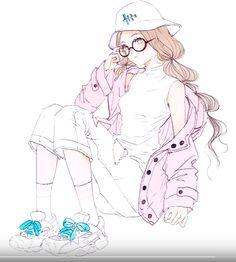 anime, anime girl, and kawaii image Girls Anime, Anime Art Girl, Manga Art, Manga Anime, Character Illustration, Illustration Art, Illustrations, Fanarts Anime, Anime Characters