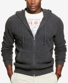 Polo Ralph Lauren Men's Big & Tall Merino's Half-Zip Sweater - Charcoal 2XB