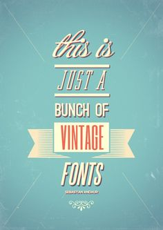 Vintage fonts - strong colour use