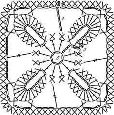 Floral Motif, free written pattern and chart by Crochet for Dummies.