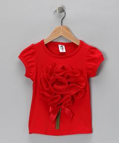 #fall #zulily Take a look at this Red Bouquet Tee - Toddler & Girls by Blow-Out on #zulily today!