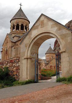 Entrance to Noravank Monastery , a Unesco Heritage Site in Armenia