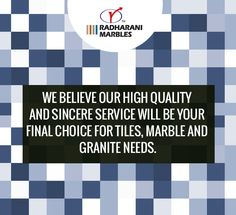 We believe our high quality and sincere service will be your final choice for #tiles, #marble and #granite needs.