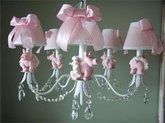 O.M.G! If I could give my piggies their own room, this would definitely be their chandelier!!!