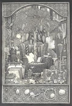 Artists' studio by maryanne42 (Brian Partridge) on DeviantArt. Pen and ink.