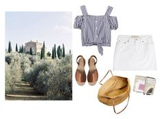 """Untitled #590"" by giuliabardelli ❤ liked on Polyvore featuring Castello, Pieces, J.Crew, Marc by Marc Jacobs and stripedshirt"