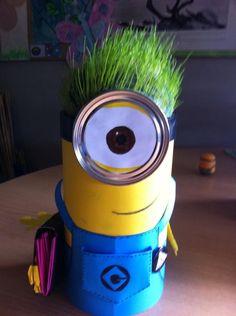 Made a grass head minion