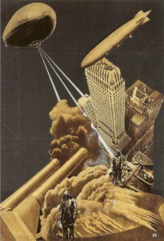 "Aleksandr Rodchenko_ Maquette for ""War of the Future (Voina budeshchego)"" magazine illustration, 1930."