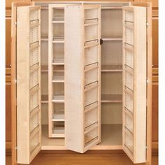 Add on pantry in kitchen, use current pantry as storage. Swing Out Complete Pantry System, Rev-a-Shelf Series-Door Mount Single Units Kitchen Pantry Cabinets, Kitchen Storage, Tall Cabinet Storage, Food Storage, Storage Ideas, Closet Storage, Storage Cabinets, Bathroom Storage, Wood Swing