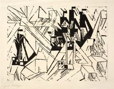 Lyonel Feininger Marine Dimensions:  11.02 X 14.8 in (28 X 37.6 cm) Medium:  Woodcut on laid paper Creation Date:  1918 Edition Number:  One of 125 prints Signed