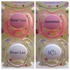 Avent personalized pacifiers engraved with babys name or monogram pacidoodle personalized pacifiers are a hit at baby showers negle Gallery