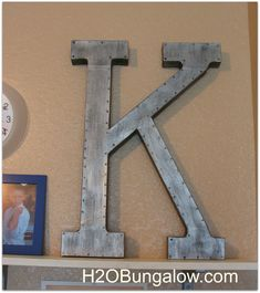paint a faux metal finish on letter