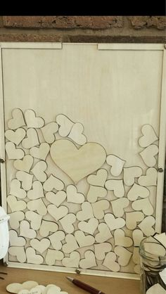 Wedding guest book, wedding heart drop box , #wedding #gastenboek #bruiloft www.bijnatrouwen.nl