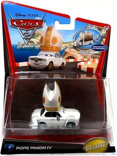 Disney Cars Cars 2 Deluxe Oversized Pope Pinion IV Diecast Car #8