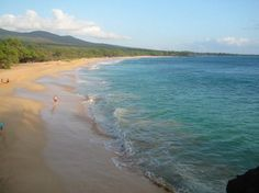 Big Beach on Maui, one the other side of this cove is Little Beach, a clothing optional beach......