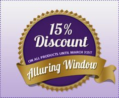 Beautiful, High Quality Window Treatments by  Alluring Window NYC.  15% OFF on all products until June 30th. Get a FREE in   home consultation, measurement and estimate.  Alluring Window   212-518-2523  1-800-506-1017