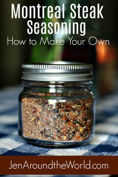 This Montreal Steak Seasoning will have you on the grill making those delicious steaks you love. This easy spice blend literally uses what you already have at home. Click over to see how you can kick your meat recipes up a notch! Homemade Dry Mixes, Homemade Spice Blends, Homemade Spices, Homemade Seasonings, Spice Mixes, Homemade Food Gifts, Dry Rub Recipes, Meat Recipes, Steak Spice
