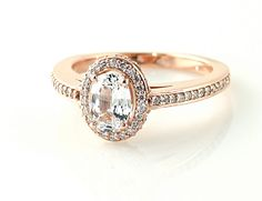 so beautiful!! White sapphire and rose gold