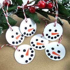 Fun snowman gift/name tags set
