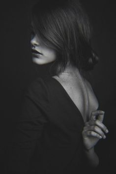 black and white portrait: