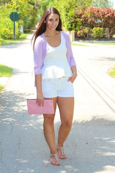 Pastels For The Summertime - Bisous, Brittany Pink Clutch, Sexy Legs, Brittany, Pastels, Lifestyle Blog, Steve Madden, Summertime, White Shorts, Anthropologie