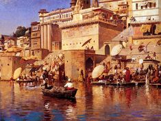 On The River Benares c.1883 | Edwin Lord Weeks | oil painting #landsapes
