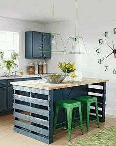 Whether your kitchen is small or large, a kitchen island is a must-must thing to have in your kitchen. And if you're searching for inspiration these 6 DIY kitchen island ideas are for you. Check out! klein How to Build a Kitchen Island from Wood Pallets Kitchen Furniture, Diy Furniture, Furniture Movers, Furniture Storage, Furniture Design, Wooden Crate Furniture, Furniture Dolly, Furniture Market, Furniture Removal