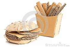 Cardboard burger and fries by Shawn Hempel, via Dreamstime