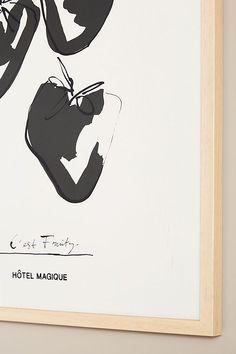C'est Fruity Wall Art by Hôtel Magique Plexiglass Panels, Best Brand, Paper Goods, Fine Art Paper, Color Schemes, Anthropologie, Gallery Wall, Graphic Design, Ink