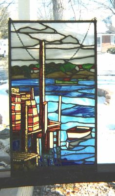 629 Best Stained Glass Ocean Seaside Water Images