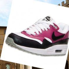 Shopping per Nike Air Max 1 scarpe da corsa essenziali bianco   nero   rosso  luminoso viola   magenta ed5c37824e69