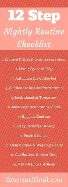 12 steps to a productive morning