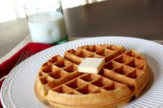 Delicious homemade waffles from scratch with ingredients you already have in your pantry!