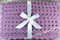 Ravelry: Lavender Twist Car Seat Baby Afghan by the Jewell's Handmades Crochet Afghan Stitch, Baby Afghan Crochet Patterns, Crochet Flower Patterns, Tunisian Crochet, Crochet Designs, Crochet Flowers, Hand Crochet, Crochet Baby, Crochet Afghans