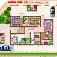 مخطط فيلا صغيرة Model House Plan, House Plans, House Map, Model Homes, Villas, Arch, Gallery Wall, How To Plan, Frame