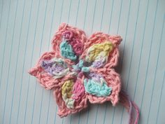 Picot Flower - free crochet pattern by Cheryl Frye ༺✿ƬⱤღ  https://www.pinterest.com/teretegui/✿༻