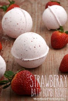 How To Make Bath Bombs   Strawberry Bath Bomb Recipe and Directions @momfindsout