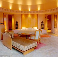 Impressive: The resort's 18 air-conditioned pavilions include a bedroom-living room and spacious bathroom and dressing area