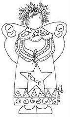 .ah... a lovely primitive angel  so sweet to embroider