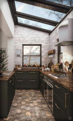 Breathtakingly Elegant Black Kitchen Ideas You ll Like DecorTrendy - Breathtakingly Elegant Black Kitchen Ideas You ll Like - Interior Design Minimalist, Interior Modern, Interior Design Kitchen, Interior Decorating, Decorating Kitchen, Apartments Decorating, Kitchen Interior Inspiration, Black Interior Design, Interior Colors