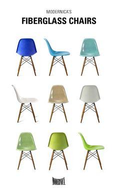 WANT! Modernica Fiberglass Shell Chairs . ShopPigment