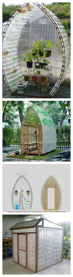 How to Build a Greenhouse Made From Plastic Bottles More #greenhouseeffect #hydroponicgardenhowto