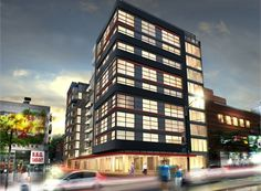 Dragon Condos: Located near the southwest corner of Dundas Street West and Spadina Avenue, is a 10-storey condominium development project. The Dragon Condos will have 95 residential units and approximately 4627 square feet of retail space located on the ground level.