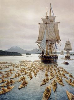 """They pulled with uncommon strength."" Neva in Sitka Sound, September 28, 1804 Mark Myers"
