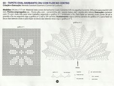 """Fiz este trabalho através de gráfico e receita publicada na Revista """"Criando Tapeçaria"""" fascículo nº47. Modifiquei o miolo e o resultado é ..."""